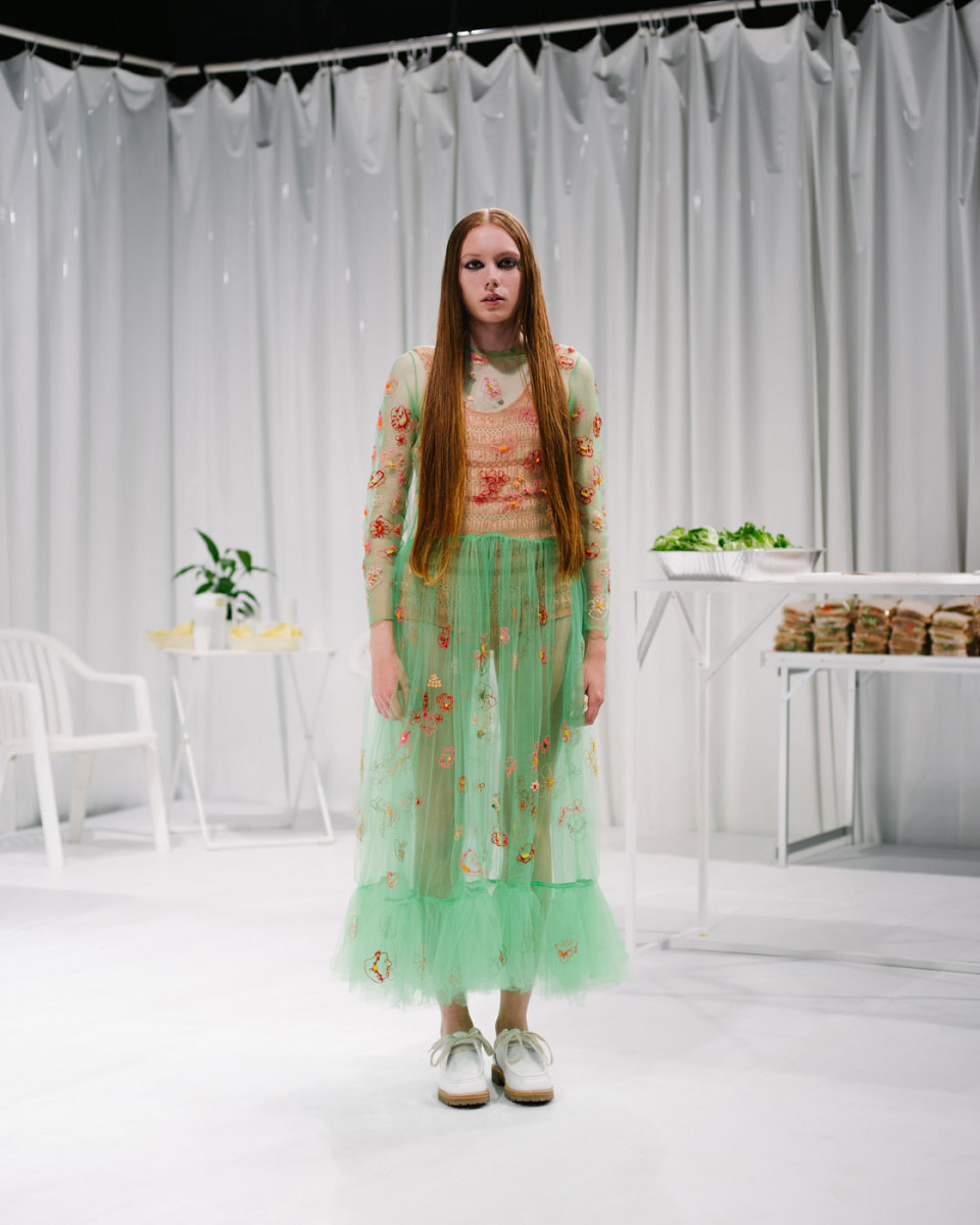 A look from Molly Goddard's spring 2016 collection. Photo: Imaxtree