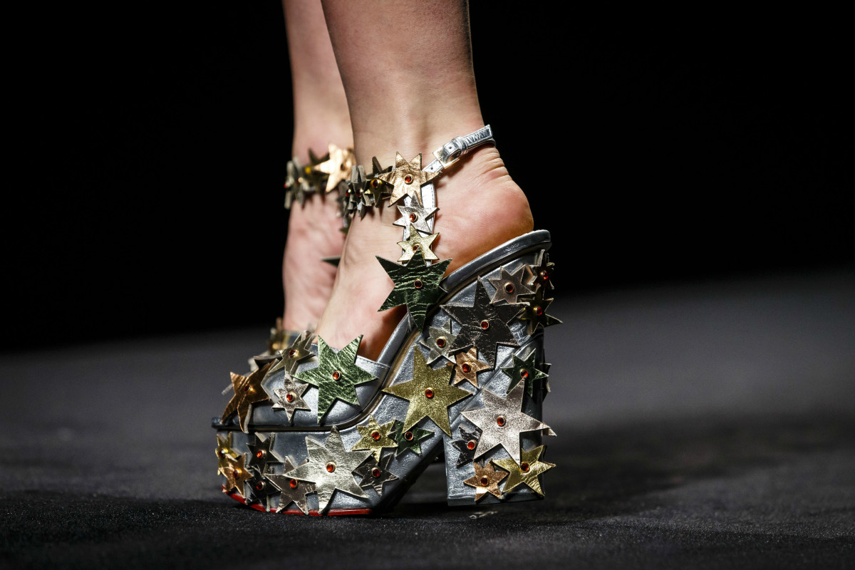 Details from Charlotte Olympia's fall 2016 show. Photo: Miles Willis/Getty Images