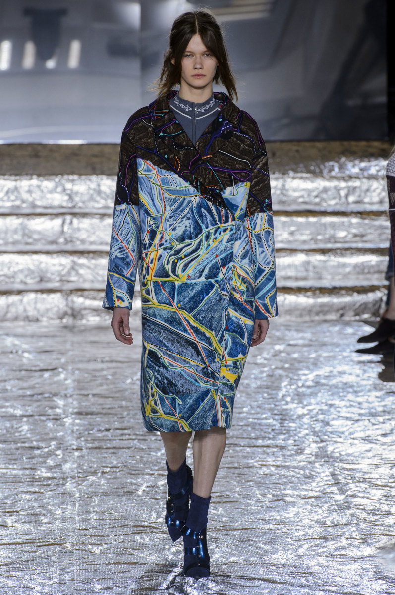 A look from Peter Pilotto's fall 2016 show. Photo: Imaxtree