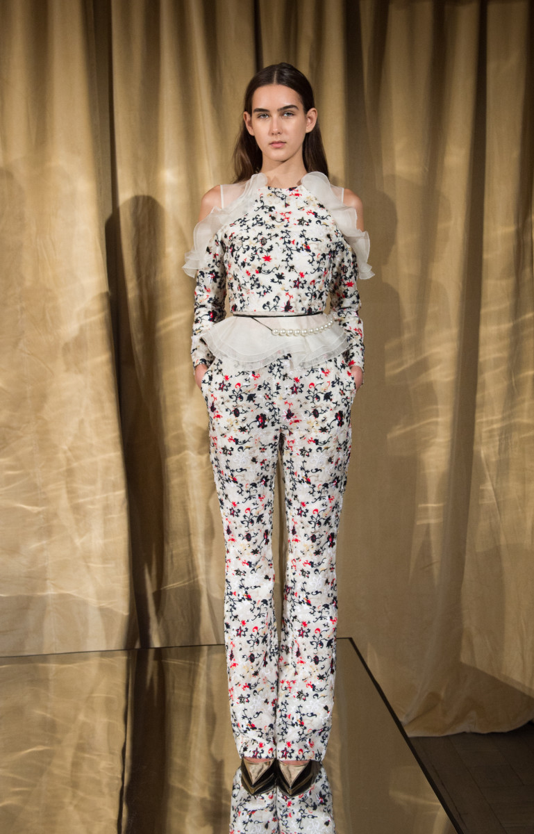A look from Huishan Zhang's fall 2016 presentation. Photo: Samir Hussein/Getty Images