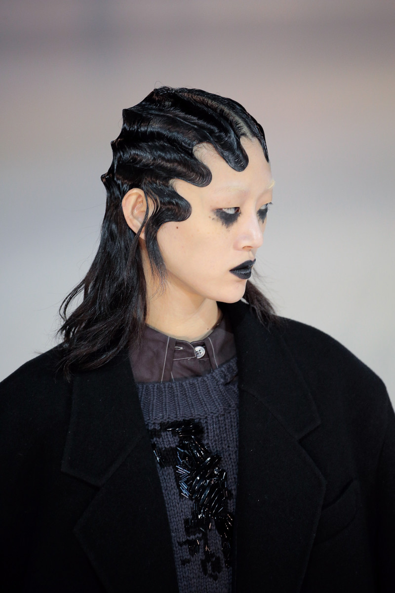 The beauty look at Marc Jacobs. Photo: Randy Brooke/Getty Images