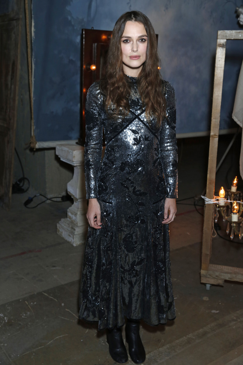 Keira Knightley in Erdem. Photo: Darren Gerrish/Getty Images