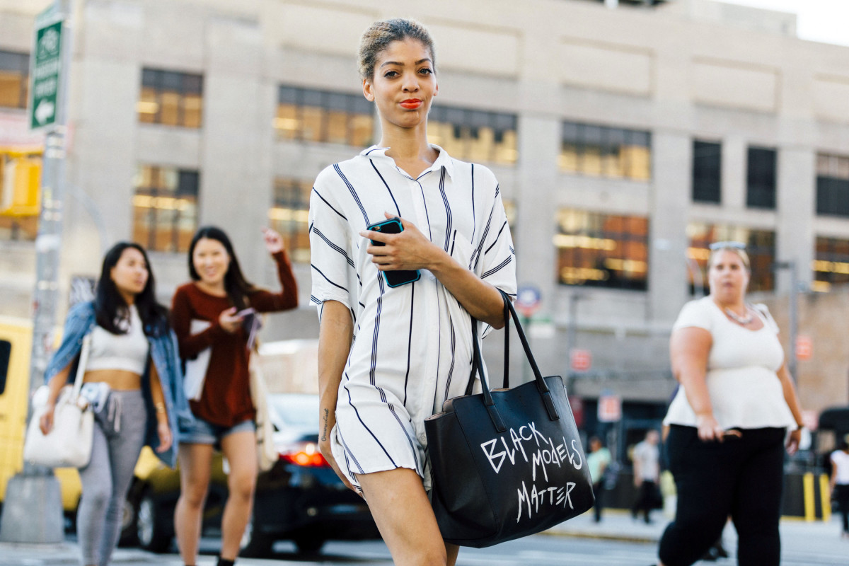 Ashley B. Chew at New York Fashion Week in September. Photo: Melodie Jeng/Getty Images