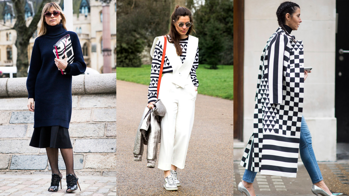 On the street at London Fashion Week. Photos: Imaxtree (2), Timur Emek/Getty Images