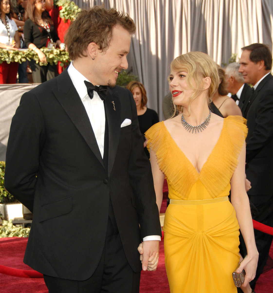 Heath Ledger with Michelle Williams in Vera Wang at the 78th Annual Academy Awards in 2006. Photo: Kevin Mazur/WireImage