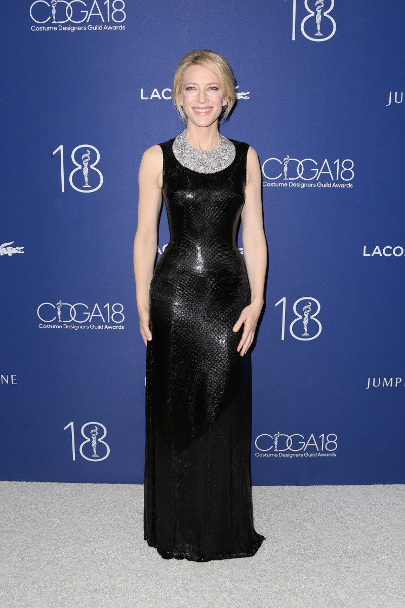 Cate Blanchett in custom Atelier Versace. Photo: Frederick M. Brown/Getty Images