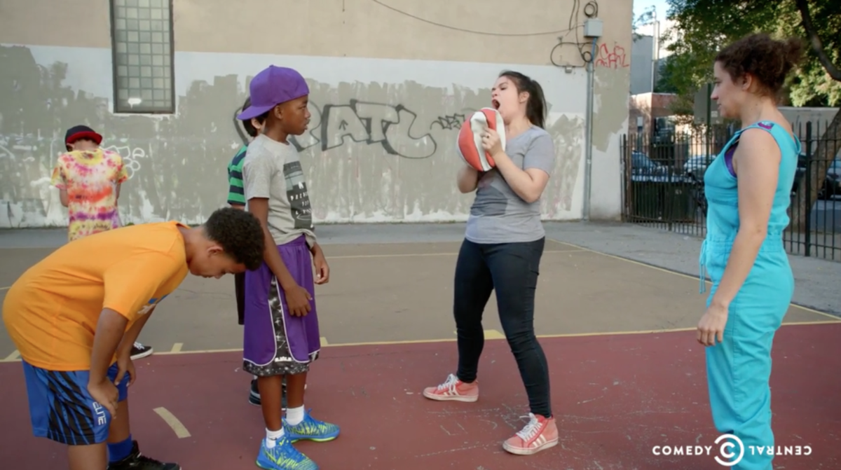 Abbi and Ilana take celebrating victory a little too far. Screengrab: Comedy Central