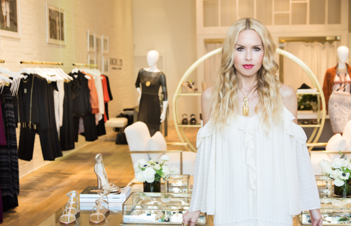Rachel Zoe at her pop-up. Photo: Courtesy of Laurel & Wolf