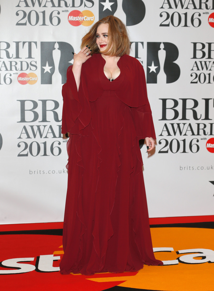 Adele in Giambattista Valli at the 2016 Brit Awards. Photo: Luca Teuchmann/Getty Images
