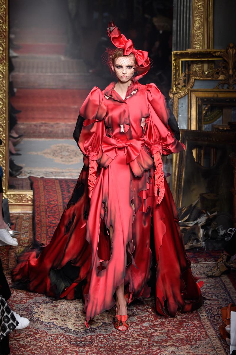 Moschino cloak. Photo: Pietro D'aprano/Getty Images