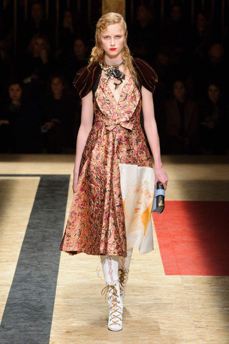 A look from Prada's fall 2016 show. Photo: Imaxtree