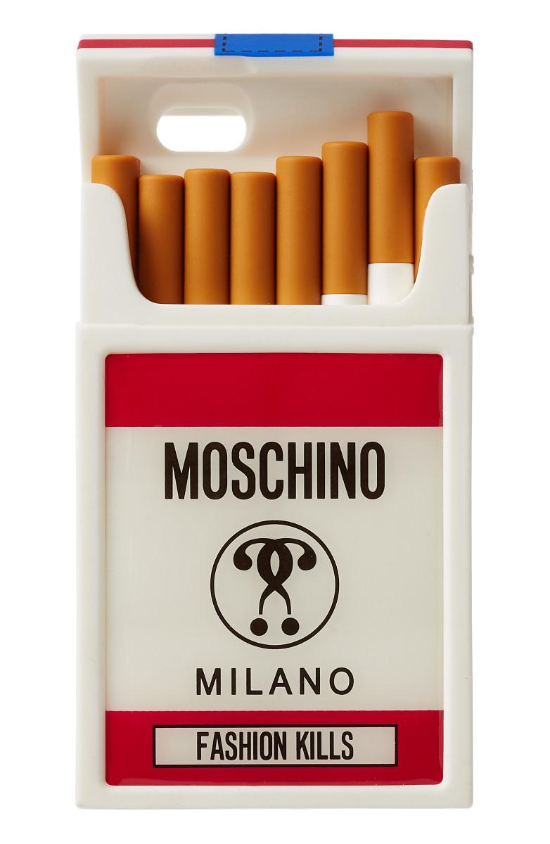 "Moschino's ""Fashion Kills"" iPhone case. Photo: Moschino"