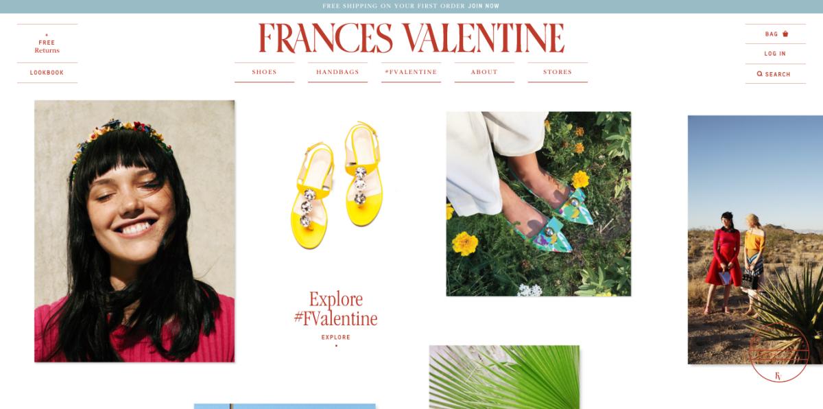 Screengrab: Francesvalentine.com