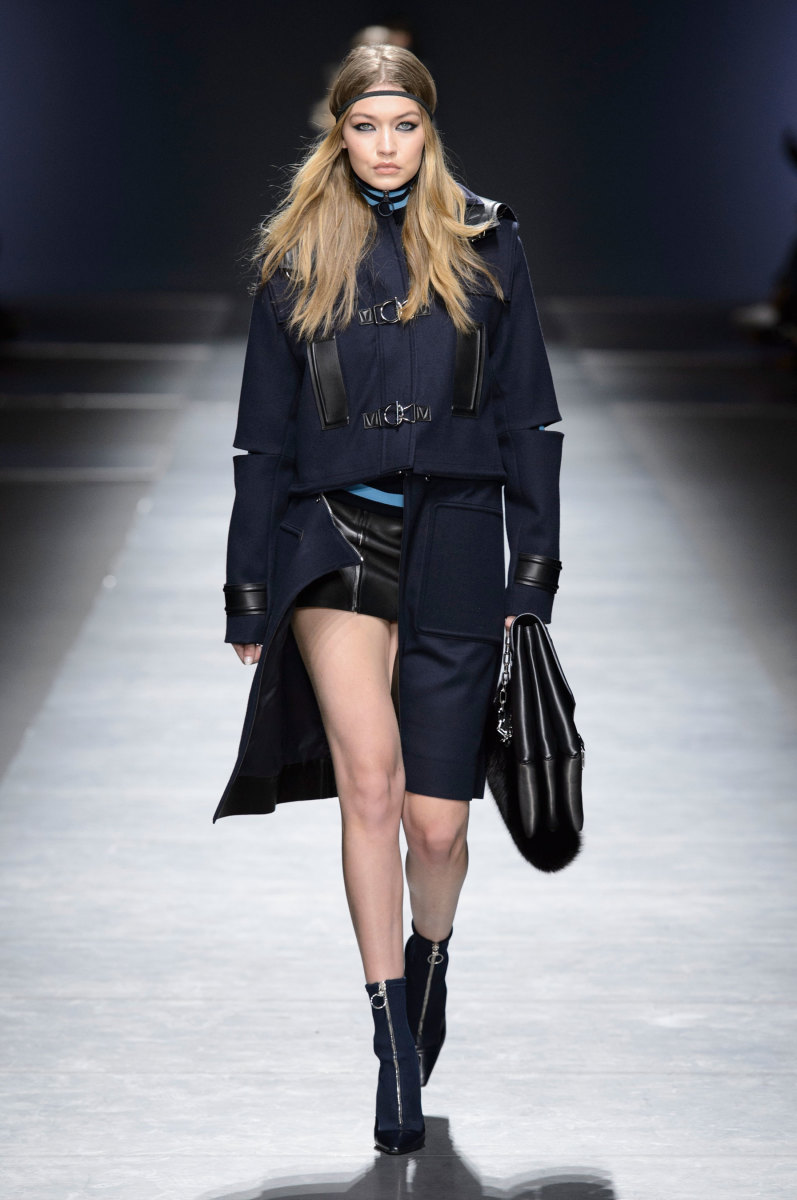 A look from Versace's fall 2016 show. Photo: Imaxtree