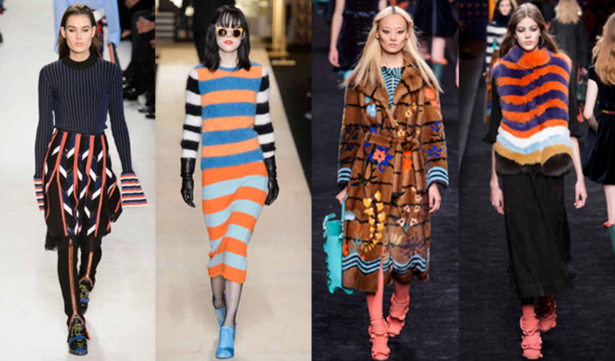 From left to right: Emilio Pucci, Max Mara, Fendi, Fendi. Photos: Imaxtree