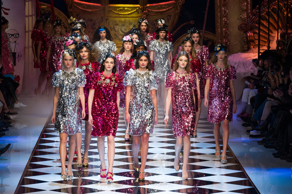 The finale of the Dolce & Gabbana fall 2016 runway show. Photo: Imaxtree