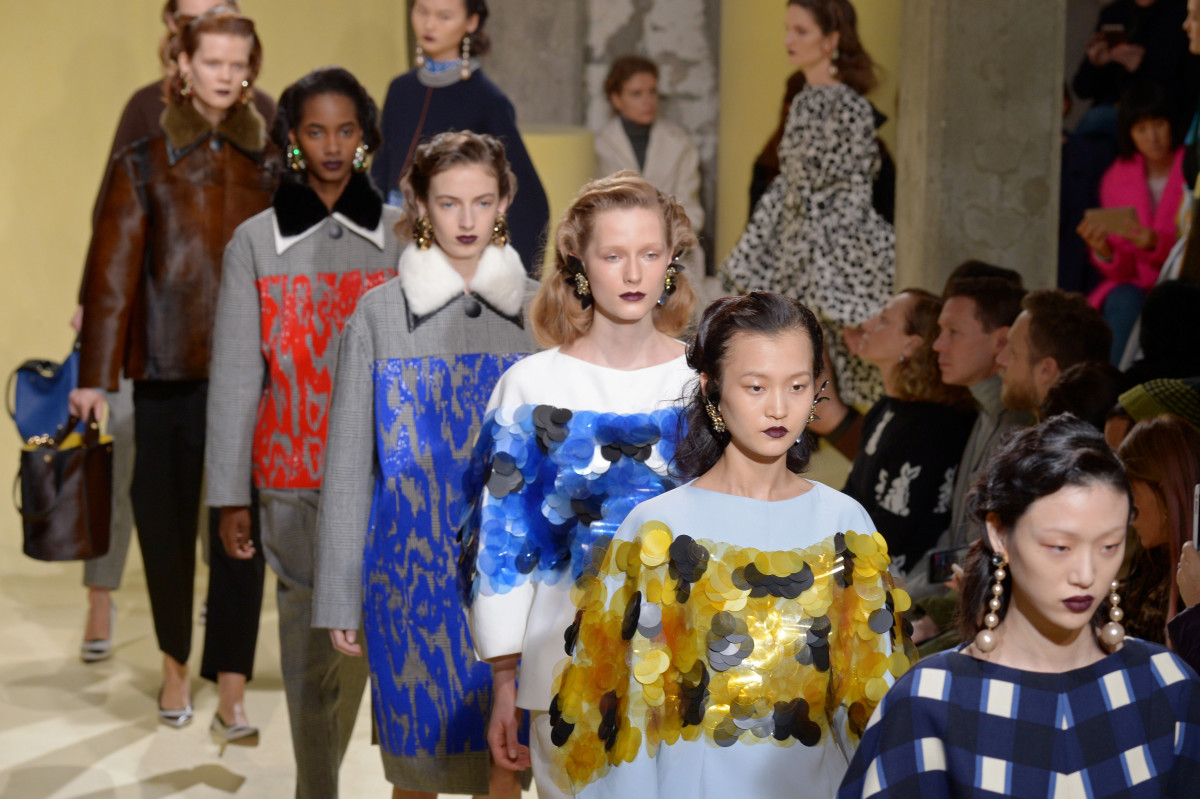 The Marni fall 2016 runway show. Photo: Victor Boyko/Getty Images