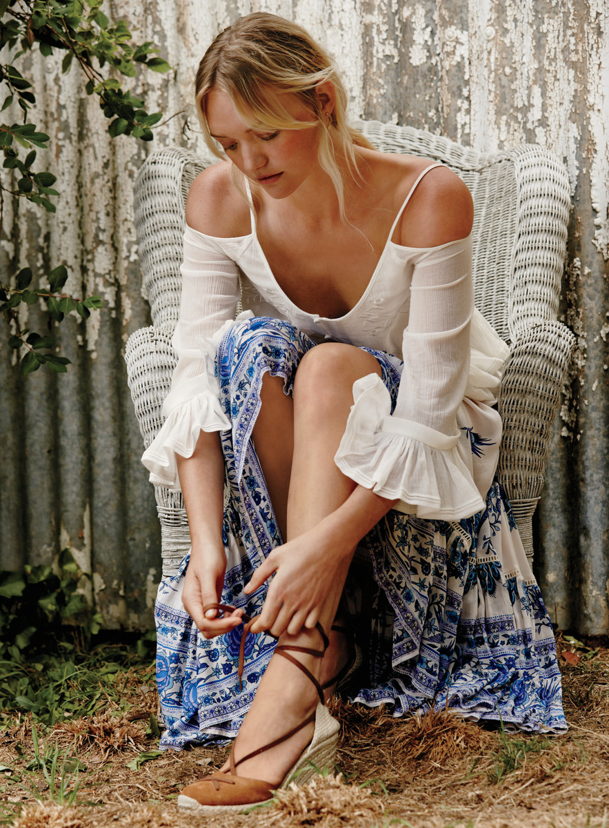 Gemma Ward for Free People. Photo: Free People