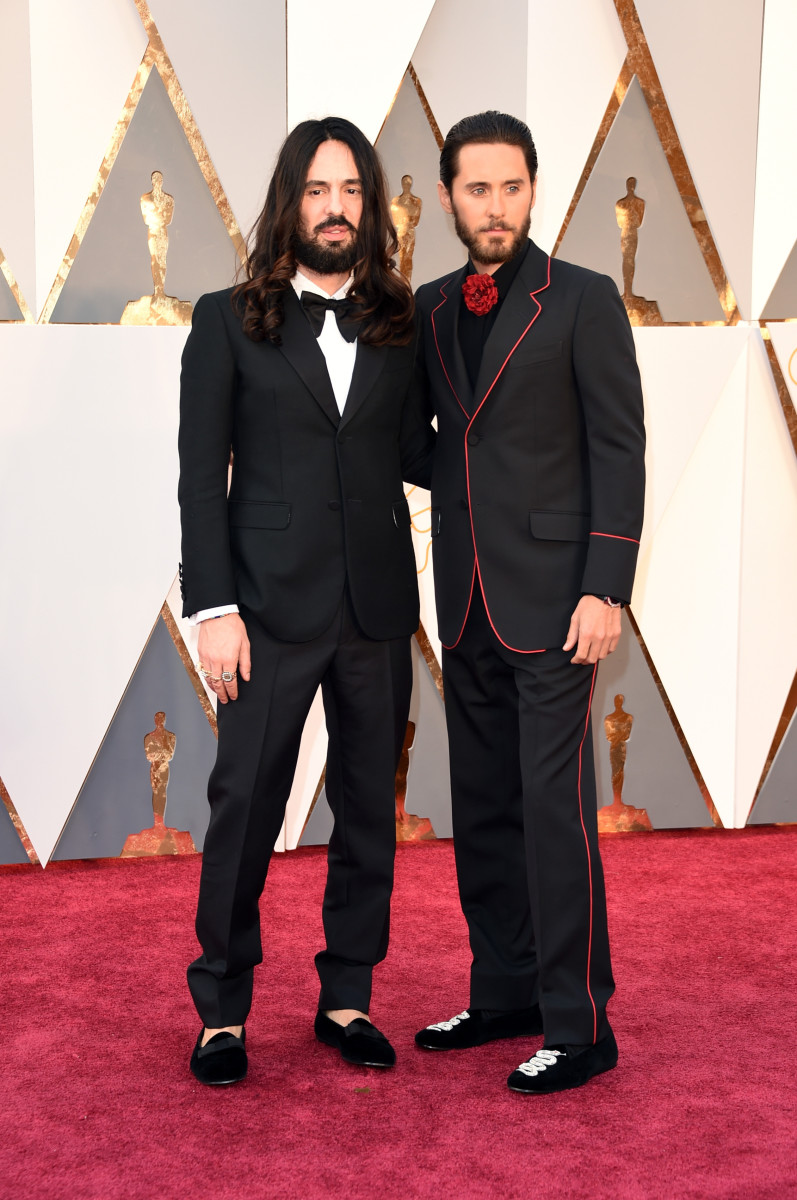 Alessandro Michele and Jared Leto in Gucci at the 2016 Oscars. Photo: Jason Merritt/Getty Images