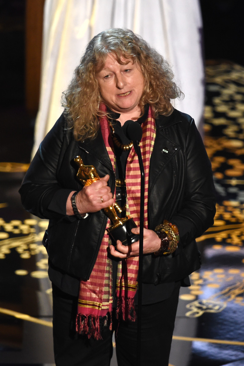 """Mad Max: Fury Road"" costume designer Jenny Beavan at the 2016 Oscars. Photo: Kevin Winter/Getty Images"