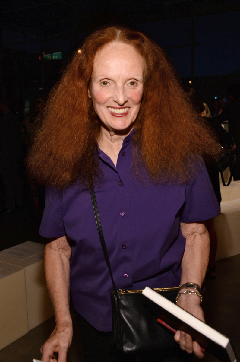 Grace Coddington at Proenza Schouler's fall 2016 show. Photo: Ben Gabbe/Getty Images