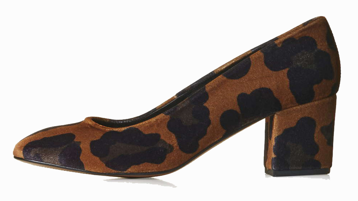 Topshop Joni Velvet Mid Shoes, $110, available at Topshop.com.