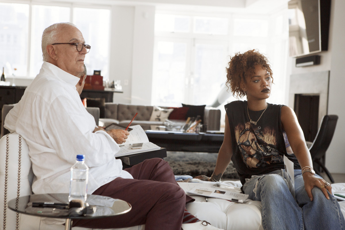 Manolo Blahnik and Rihanna. Photo: Dennis Leupold/Manolo Blahnik