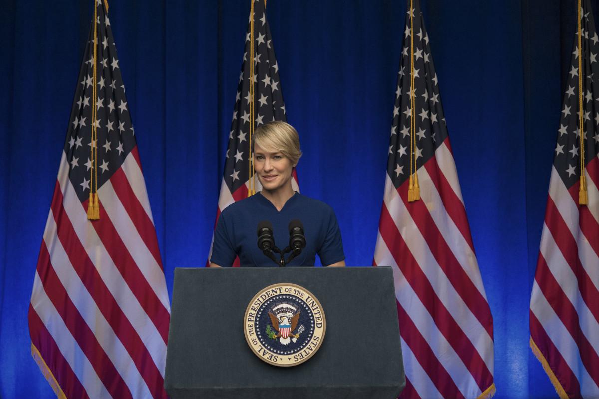 Underwood in season three. Photo: Netflix