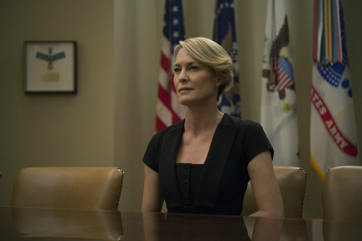 "Claire Underwood in season four of ""House of Cards."" Photo: Netflix"