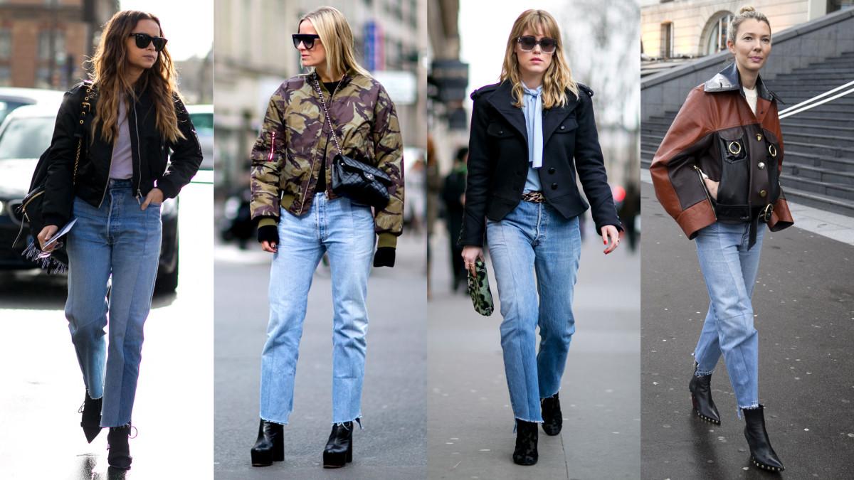 On the street at Paris Fashion Week. Photo: Imaxtree (3), Emily Malan/Fashionista