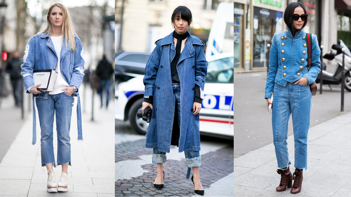 On the street at Paris Fashion Week. Photos from left to right: Imaxtree (2), Emily Malan/Fashionista