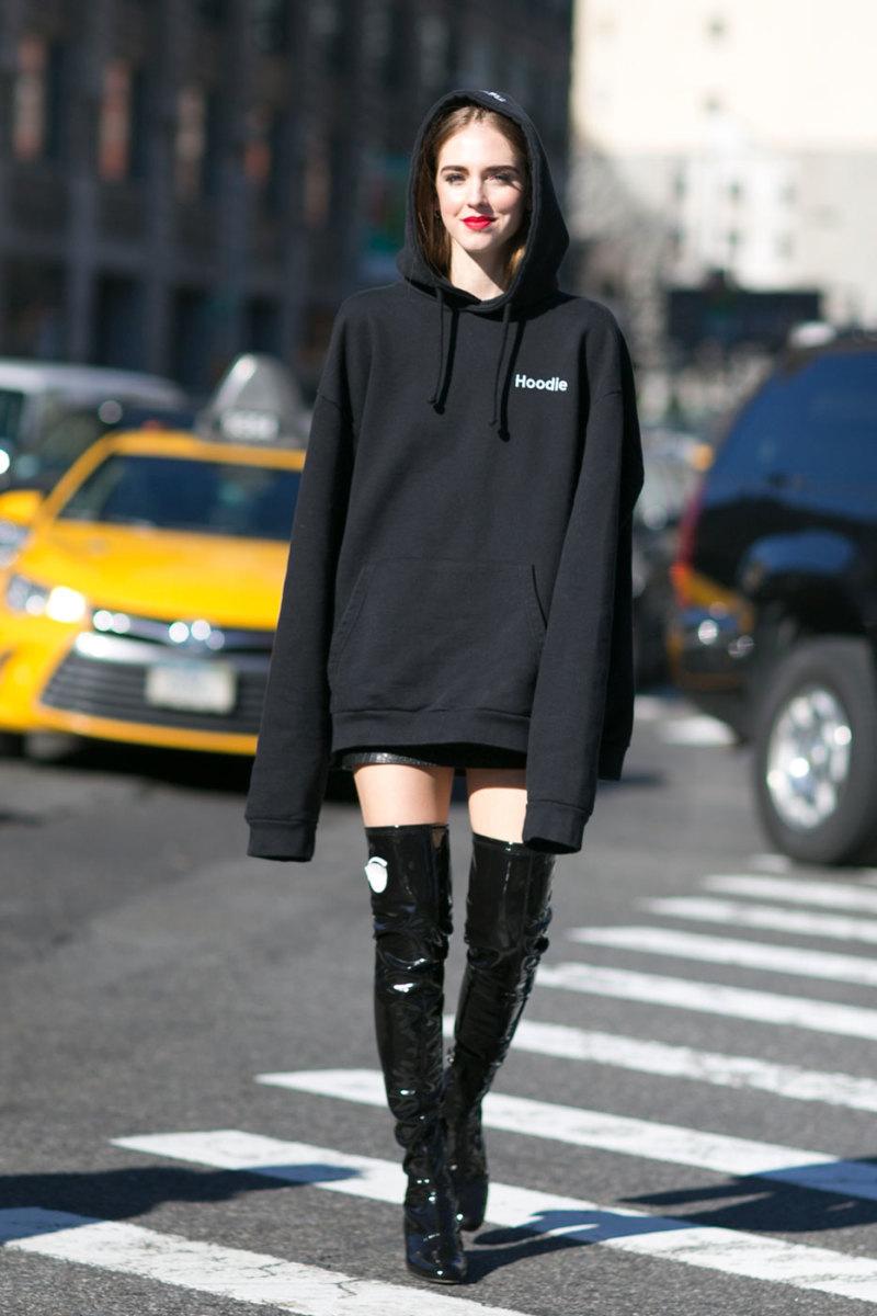 Chiara Ferragni in Vetements at New York Fashion Week. Photo: Imaxtree