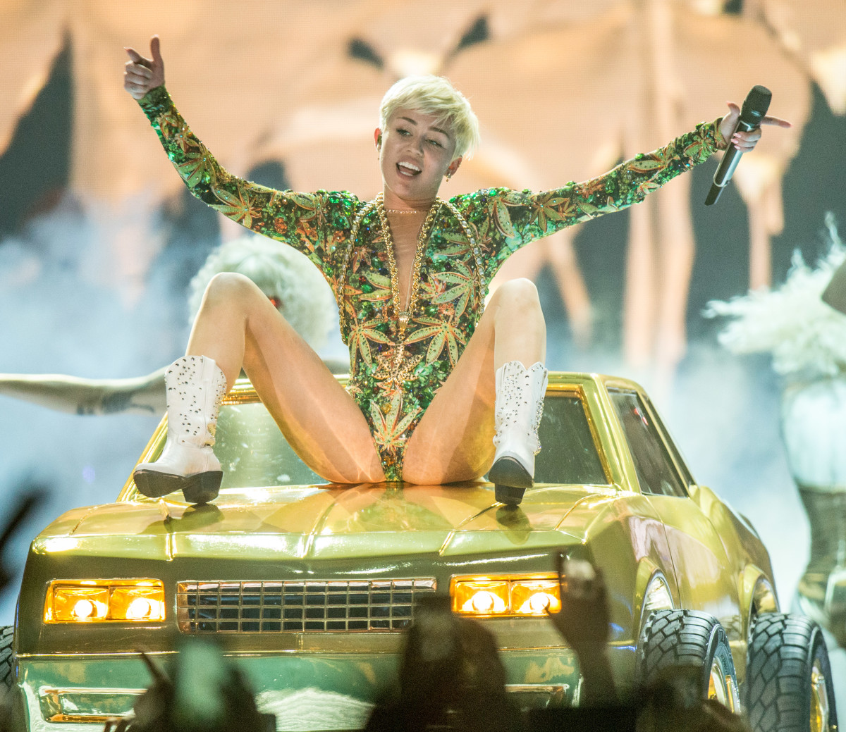 Miley Cyrus on her 2014 'Bangerz' tour. Photo: Christopher Polk/Getty Images