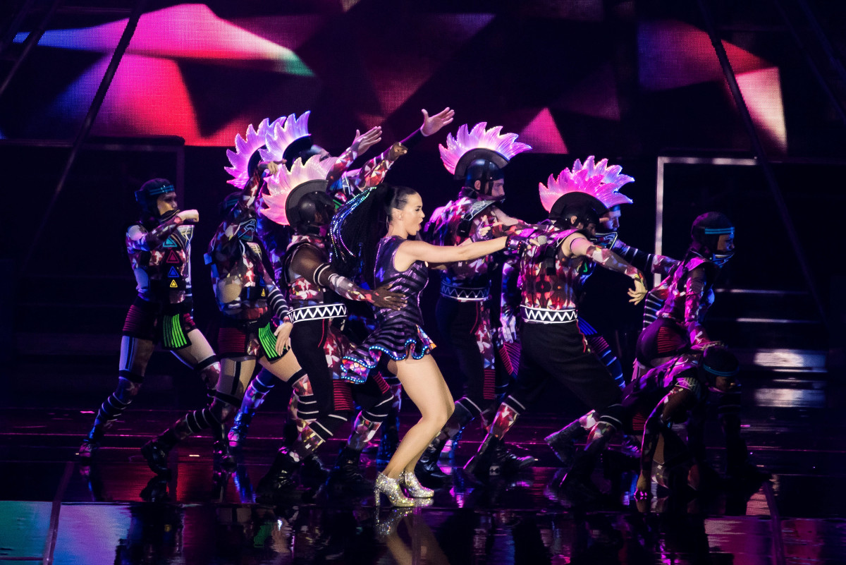 Katy Perry's 'Prismatic' opening number. Photo: Anthony Kwan/Getty Images