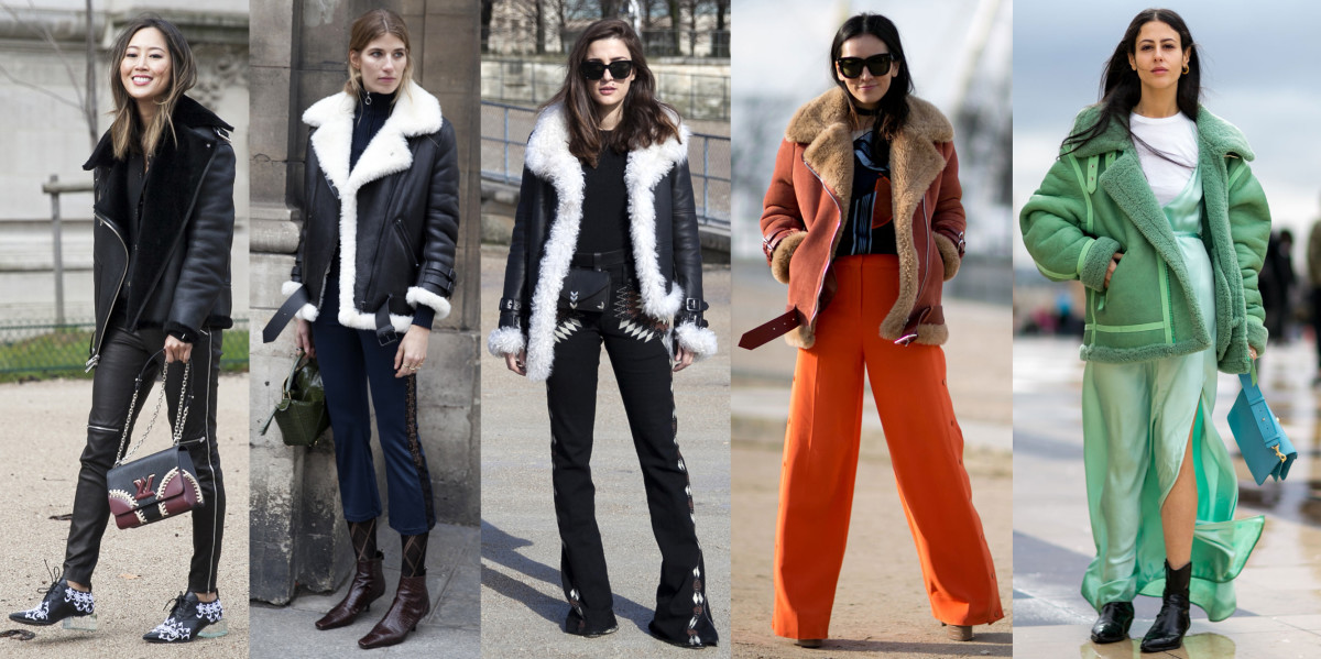 Aimee Song in The Arrivals, Veronika Heilbrunner in Acne, Eleonora Carisi, Tina Leung in Acne and Gilda Ambrosio in Caroline Kummelstedt. Photos from left to right: Imaxtree (1), Emily Malan/Fashionista (2), Imaxtree (2)