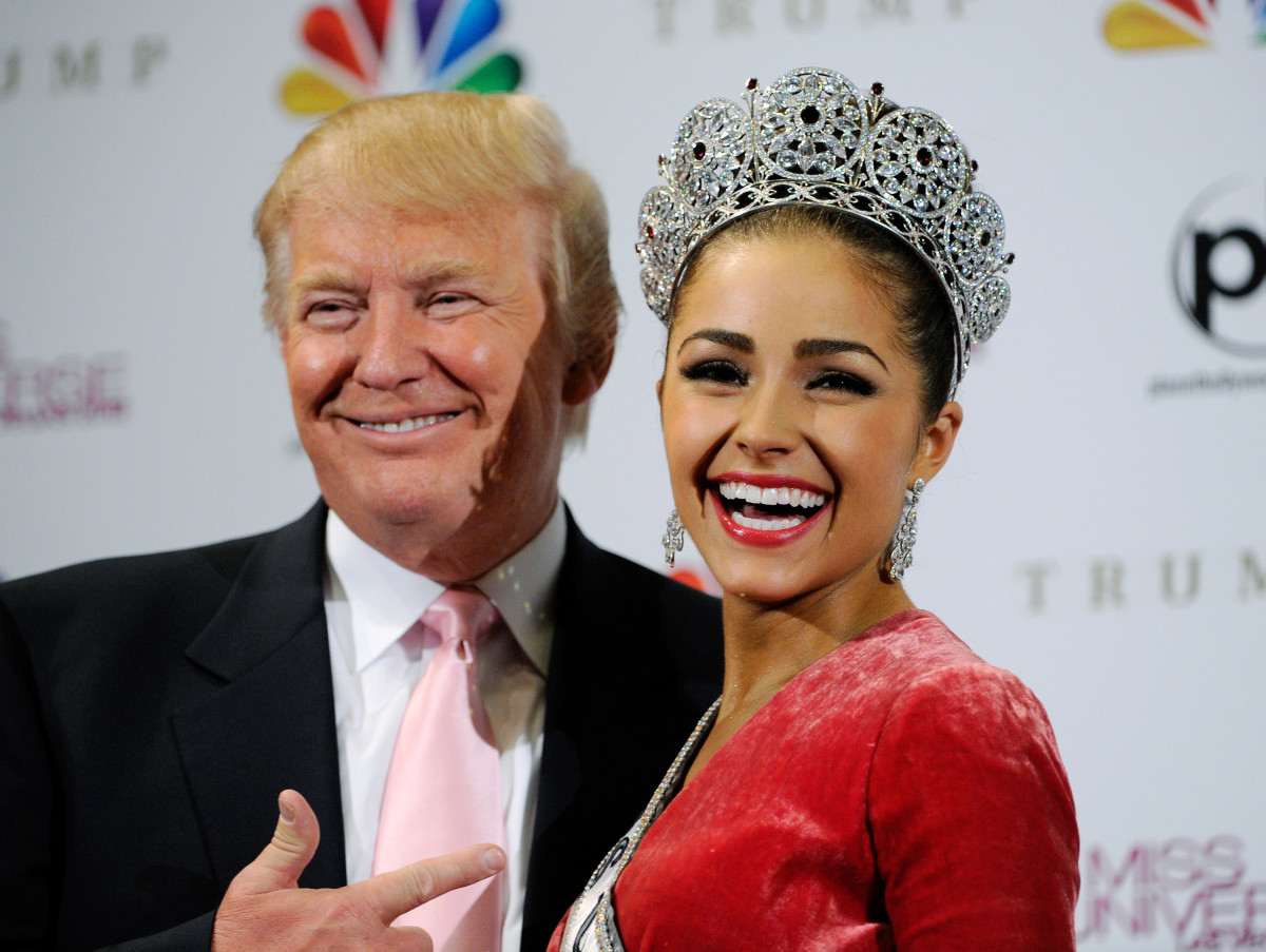 Trump at the Miss Universe pageant in 2012. (Photo: David Becker/Getty Images)