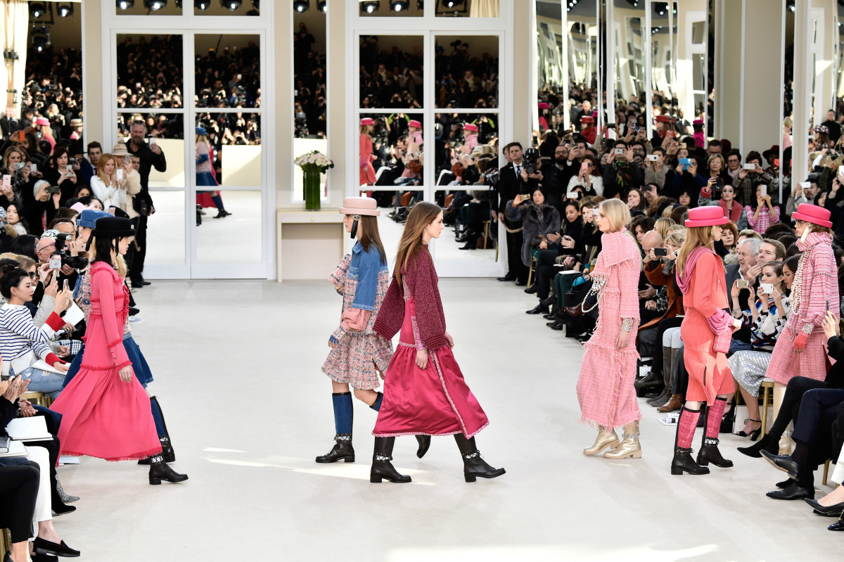 The finale of Chanel's fall 2016 runway show. Photo: Pascal Le Segretain/Getty Images