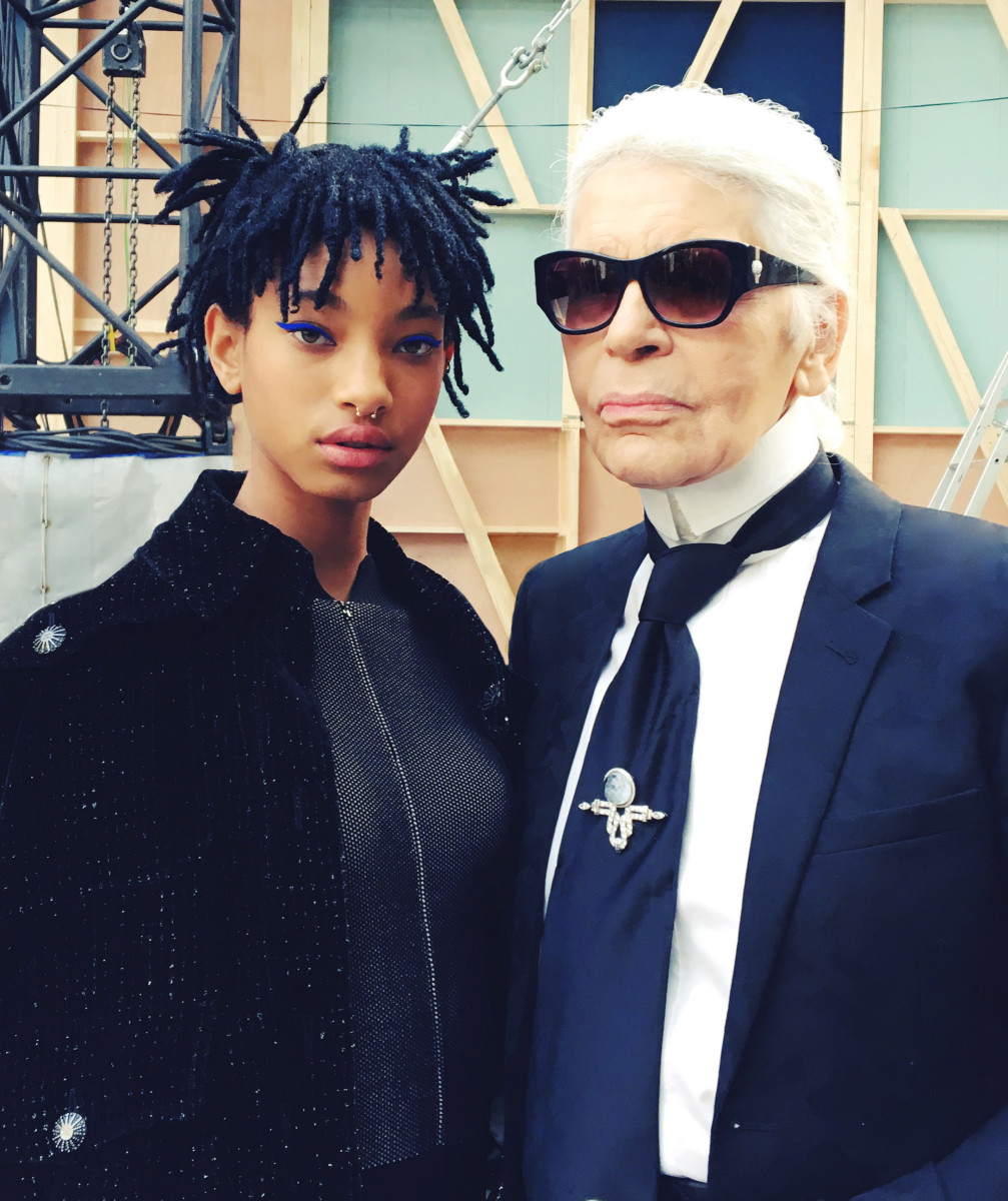 Ambassadress Willow Smith and Kaiser Karl. Photo: Chanel