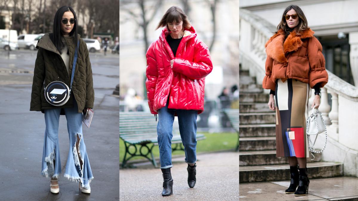 On the street at Paris Fashion Week. Photos: Emily Malan/Fashionista, Imaxtree (2)