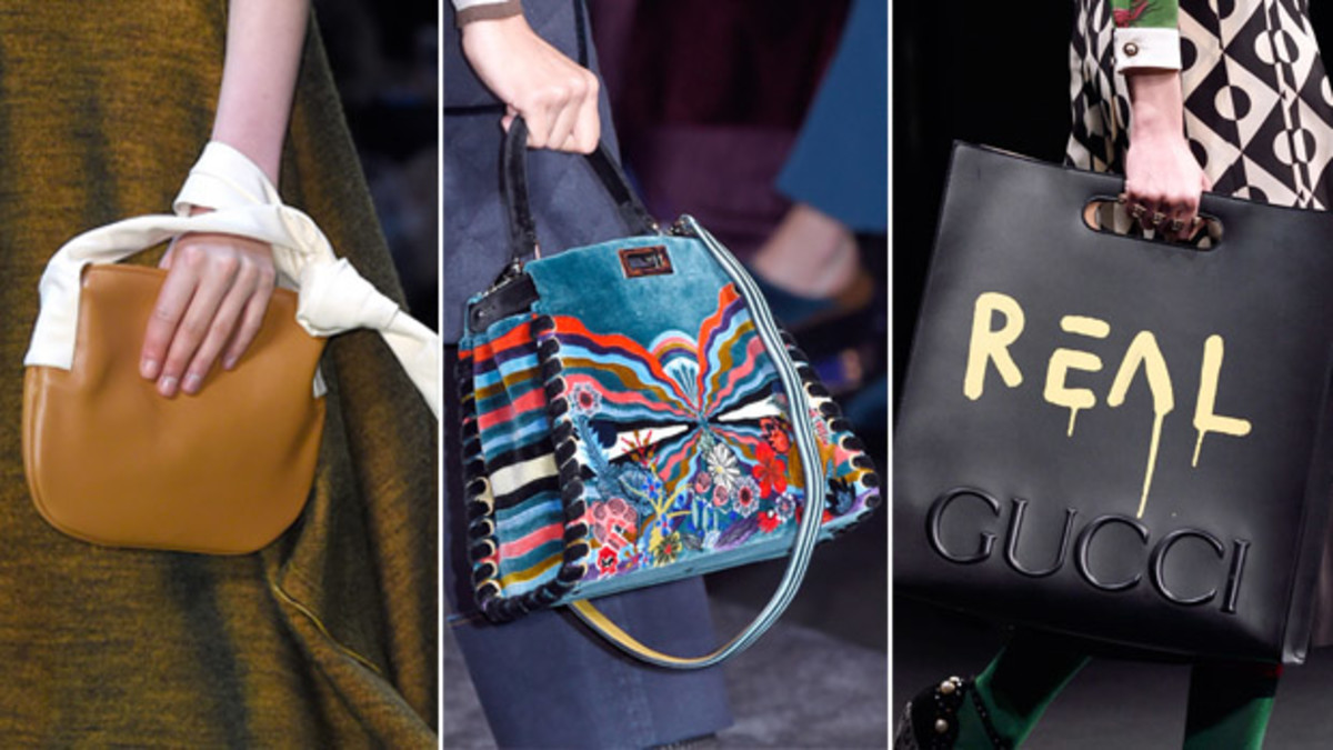 From left to right: Celine, Fendi and Gucci. Photos: Imaxtree