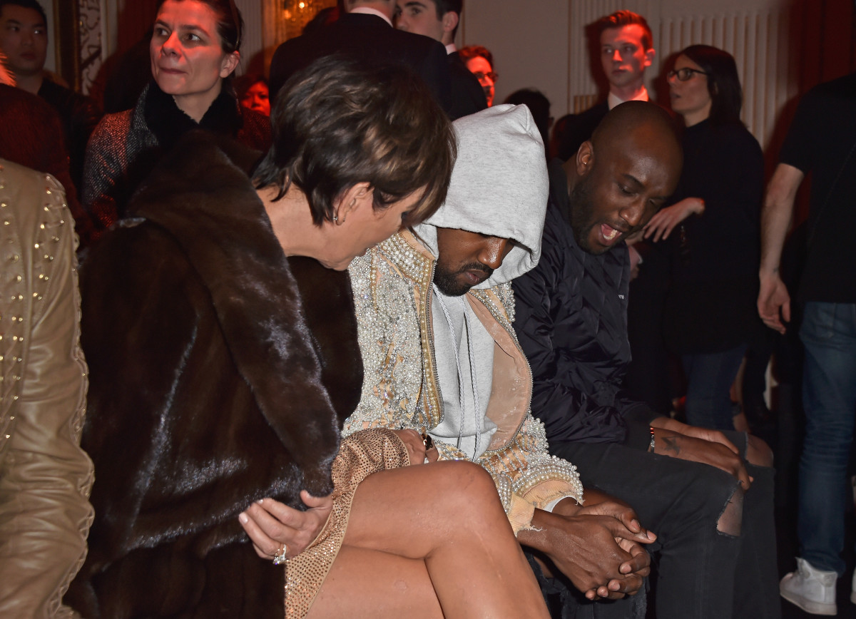Kanye West at Givenchy. Photo: Pascal Le Segretain/Getty Images