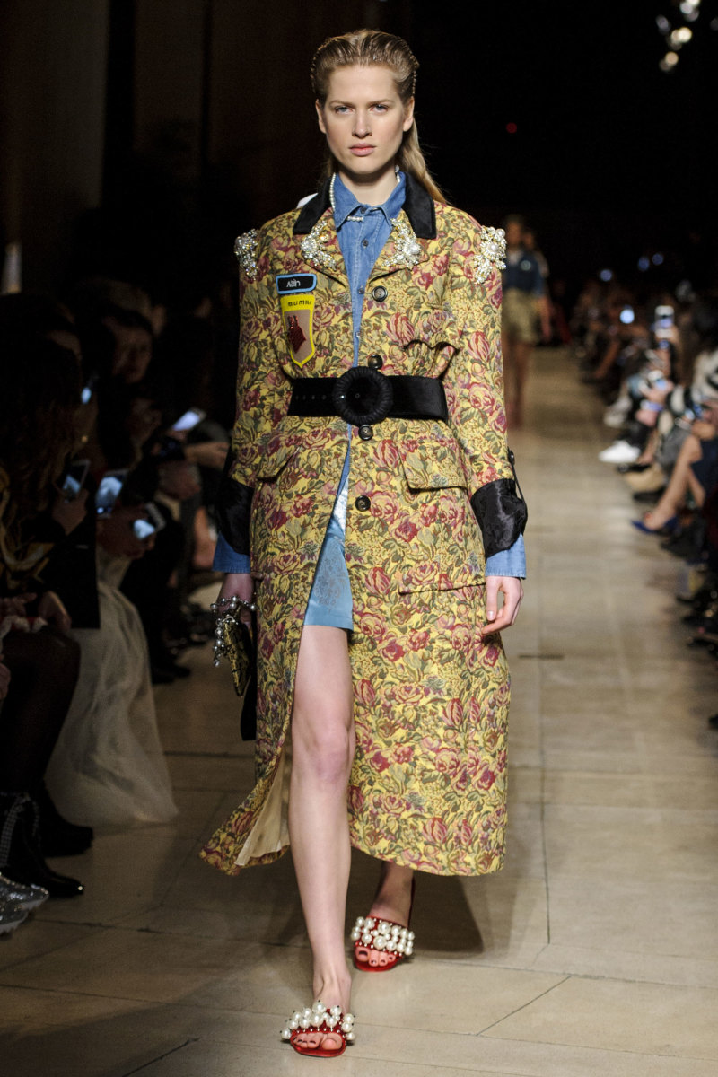A look from Miu Miu's fall 2016 collection. Photo: Imaxtree