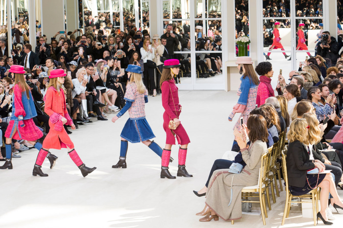 "The finale of the ""front row only"" Chanel show in Paris. Photo: Imaxtree"