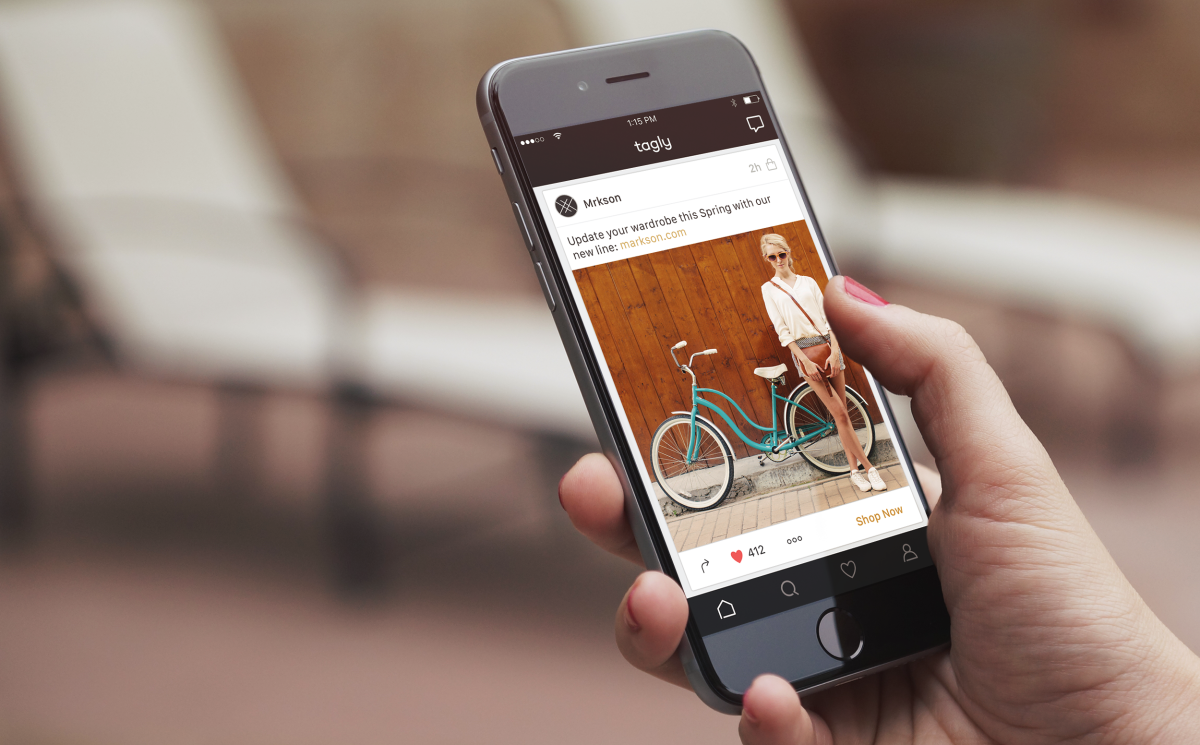 Connecting through your Facebook profile, Tagly takes less than a minute to download and launch. Create a personalized feed with posts from over 1,000 fashion & lifestyle brands.