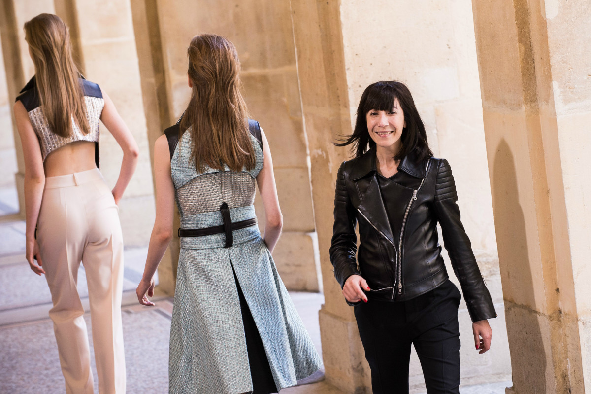 Bouchra Jarrar at the finale of her fall 2014 show during Paris Couture Week. Photo: Francois Durand/Getty Images