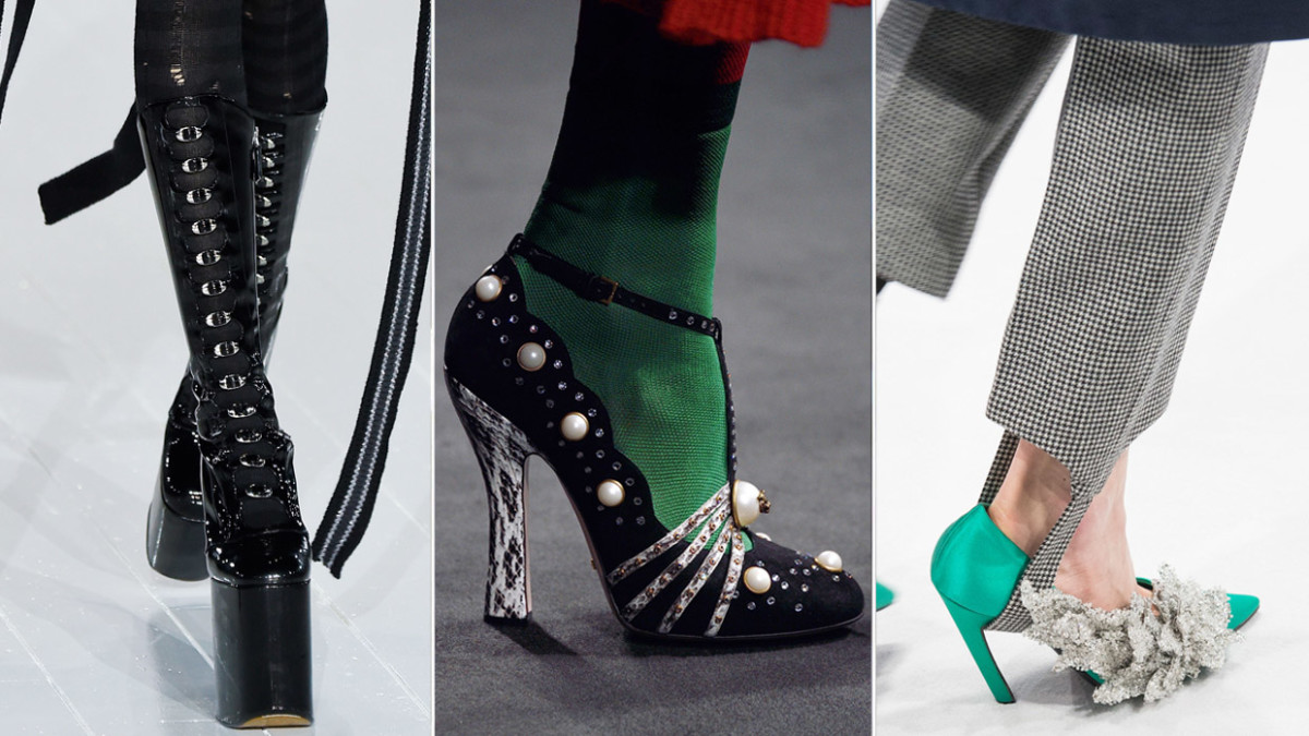 From left to right: Marc Jacobs, Gucci and Balenciaga. Photos: Imaxtree