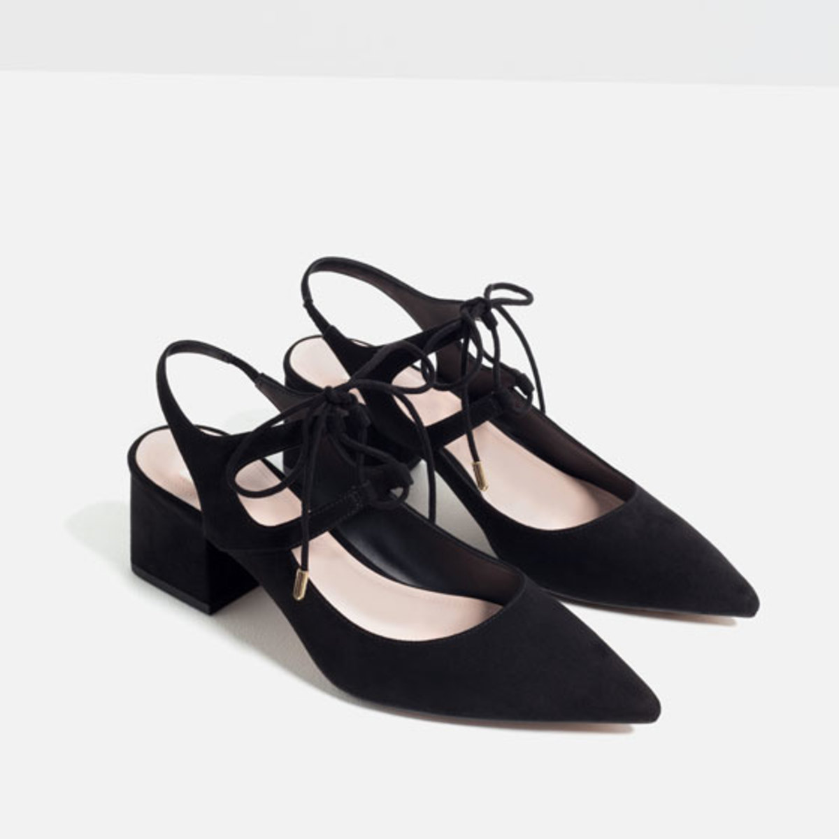 High Heel Slingback Shoes, $49.90, available at Zara.