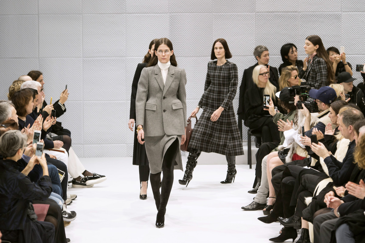 Models hit the runway at Balenciaga. Photo: Imaxtree