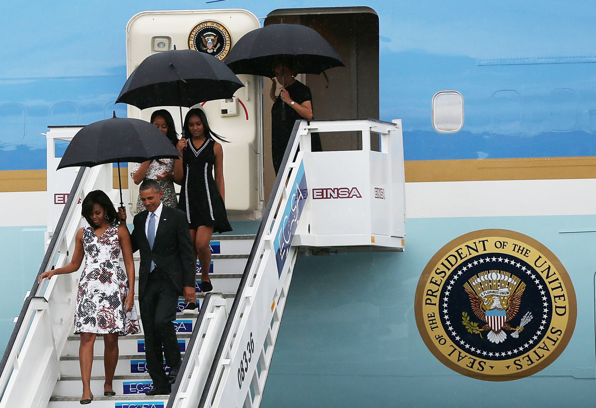 The Obama family arriving in Cuba. Photo: Courtesy of Carolina Herrera