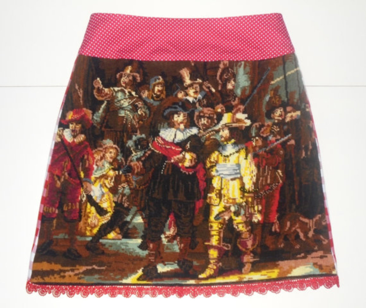 Rembrandt skirt, $80.87, available on Etsy.